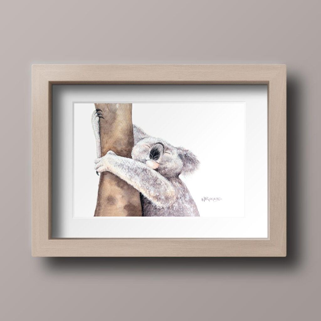 Koala Watercolour by Nikki Rogers