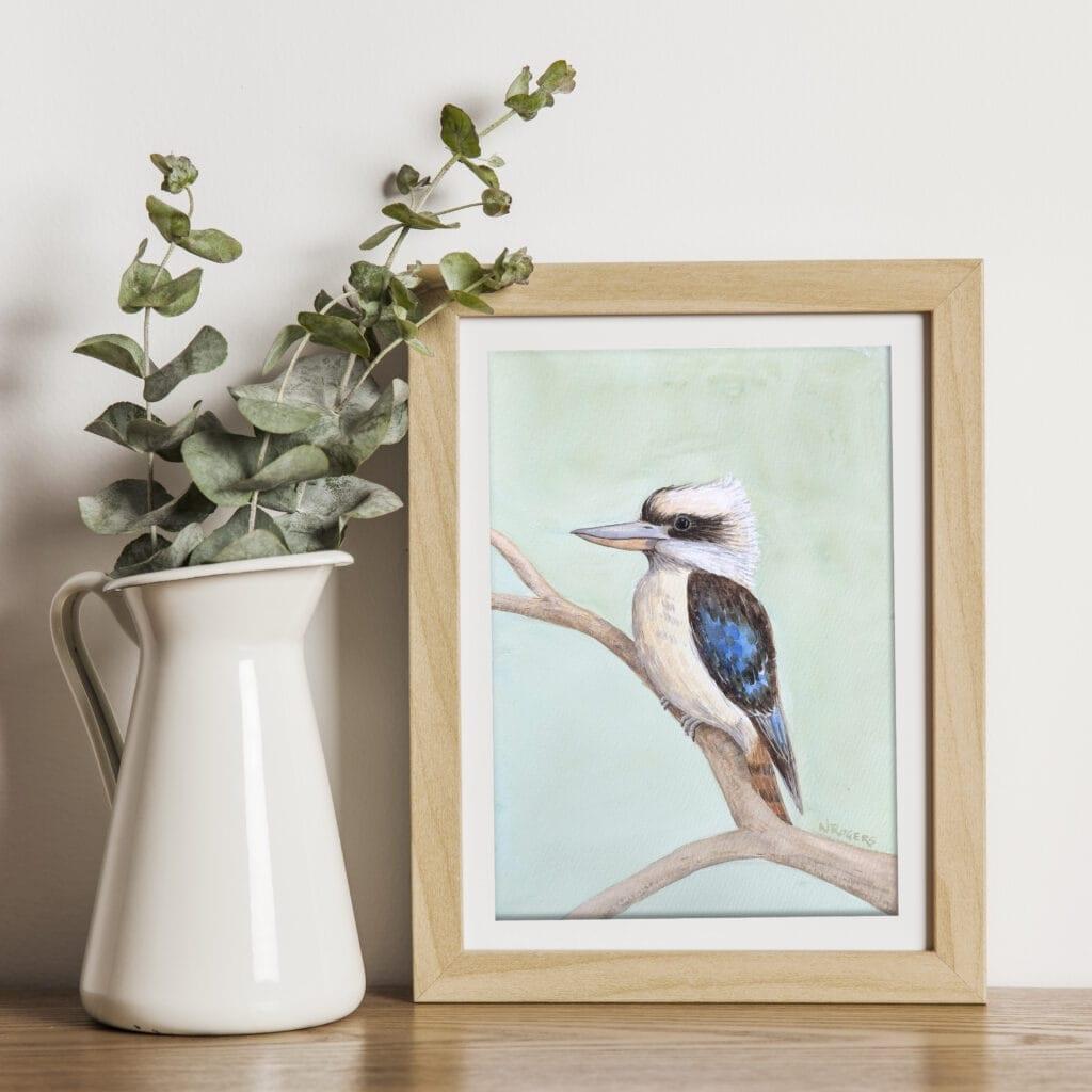 Kookaburra Watercolour by Nikki Rogers