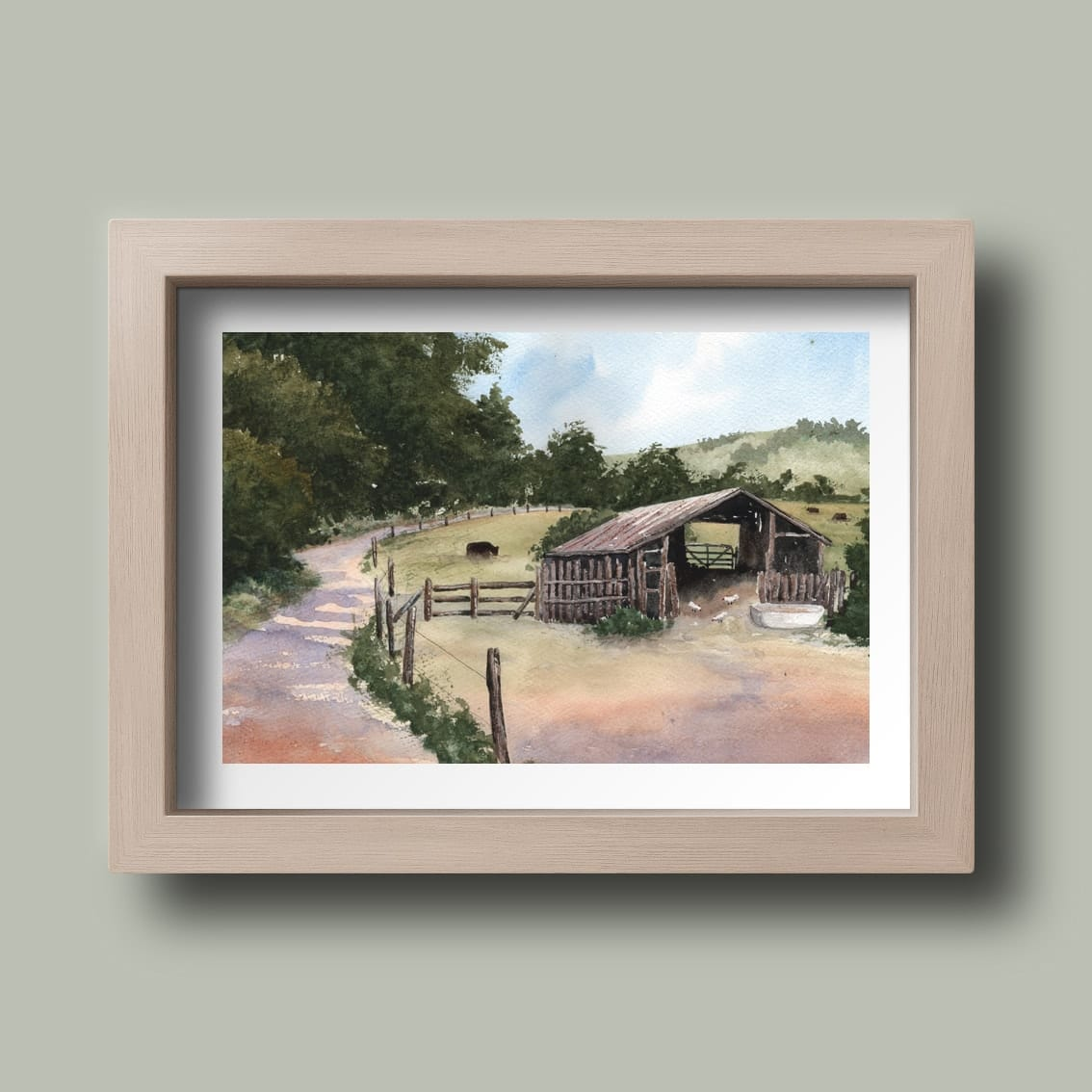 The Shed Watercolour by Nikki Rogers